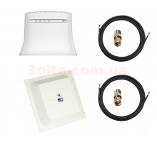 Комплект 4G WiFi роутер ZTE MF283U и антенна 4G LTE MIMO панельная 2*24 dbi (Logo 4G LTE) + Кронштейн
