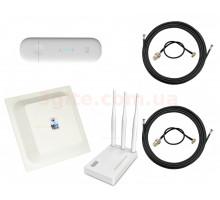3G/4G Wi-Fi LTE роутер ZTE MF79+Антенный комплект Антенна MIMO 15 ДБи + маршрутизатор Netis MW5230