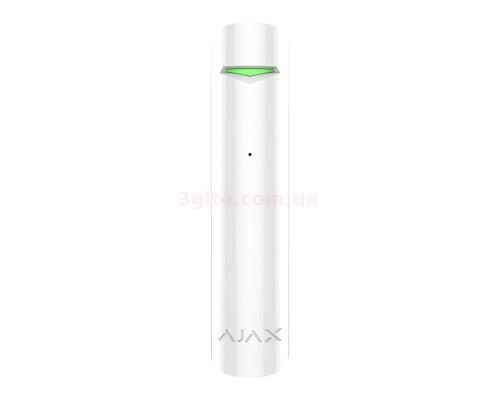 Ajax GlassProtect White Wireless Glass Break Sensor