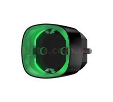 Radio-controlled smart socket with energy meter Ajax Socket Black